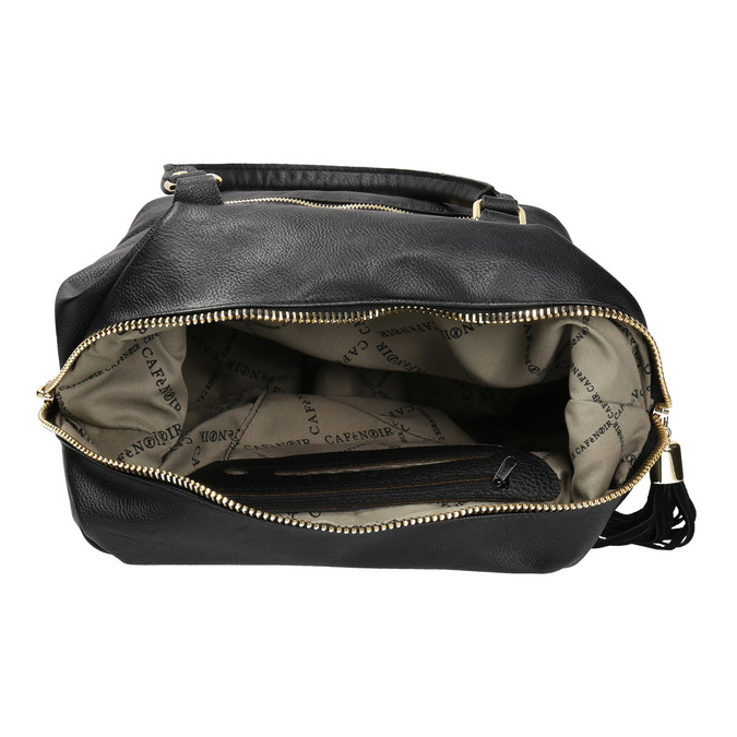 Černá dámská kabelka se zlatými detaily cafe-noir, černá, 961-6009 - 15