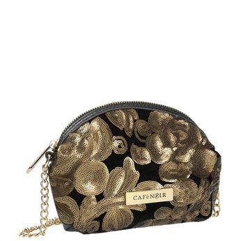 Elegantní menší kabelka s flitry cafe-noir, černá, 961-6011 - 13