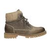 Kožená zimní obuv s kožíškem weinbrenner, šedá, 594-2491 - 26