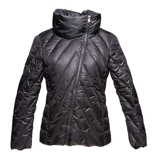 Dámská bunda s asymetrickým zapínáním bata, černá, 979-6638 - 13