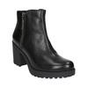Kožená kotníčková obuv na masivním podpatku vagabond, černá, 794-6002 - 13