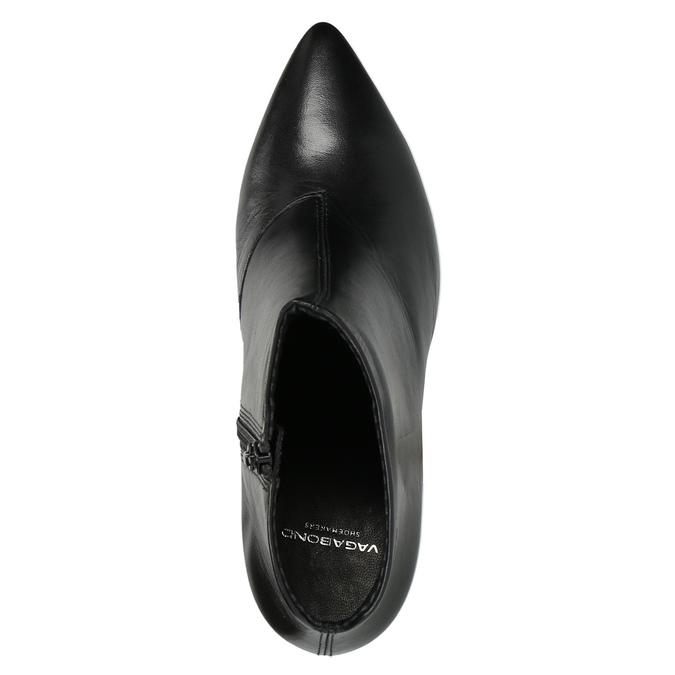 Kožená kotníčková obuv vagabond, černá, 714-6001 - 19