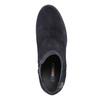 Kožená kotníčková obuv na podpatku u-s-polo-assn-, modrá, 713-9072 - 19