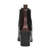 Kožené kotníčkové kozačky s pružnými boky bata, červená, 696-5635 - 17