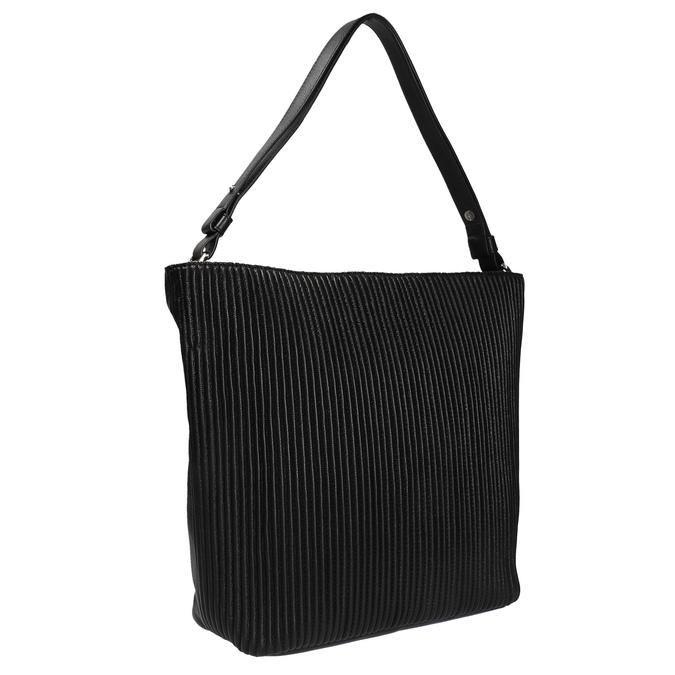 Kožená kabelka v Hobo stylu bata, černá, 964-6216 - 13