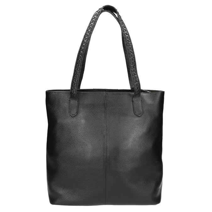 Černá kožená kabelka bata, černá, 964-6213 - 19