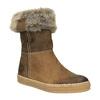 Kožená zimní obuv s kožíškem weinbrenner, hnědá, 596-4633 - 13