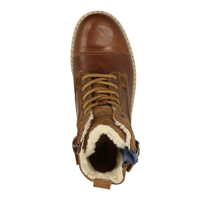 Dětská obuv se zateplením bull-boxer, hnědá, 494-3002 - 19