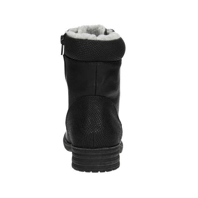 Dětská obuv s kožíškem bull-boxer, černá, 491-6008 - 17