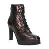 Kožená kotníčková obuv na podpatku bata, červená, 796-5638 - 13