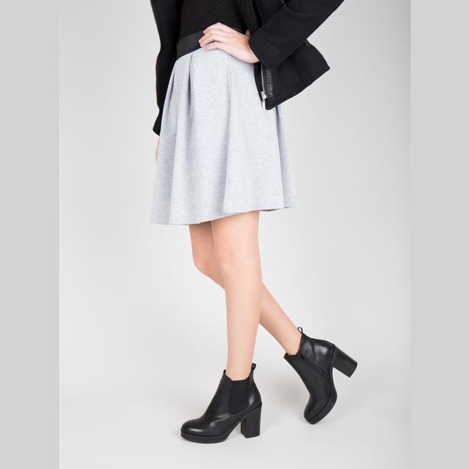 Kotníčková obuv na masivním podpatku bata, černá, 791-6600 - 18