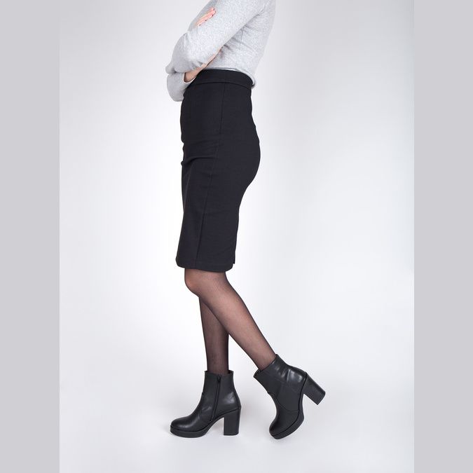 Kotníčková obuv na masivním podpatku bata, černá, 791-6601 - 18
