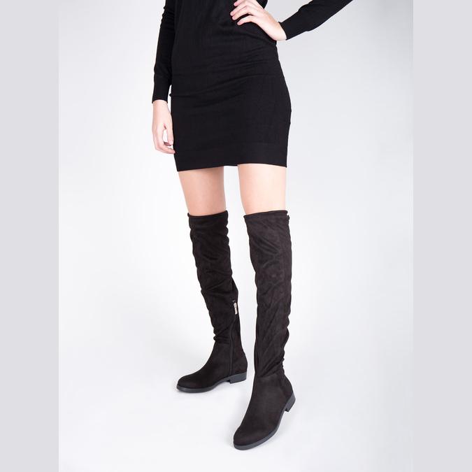 Dámské kozačky nad kolena bata, černá, 599-6608 - 18