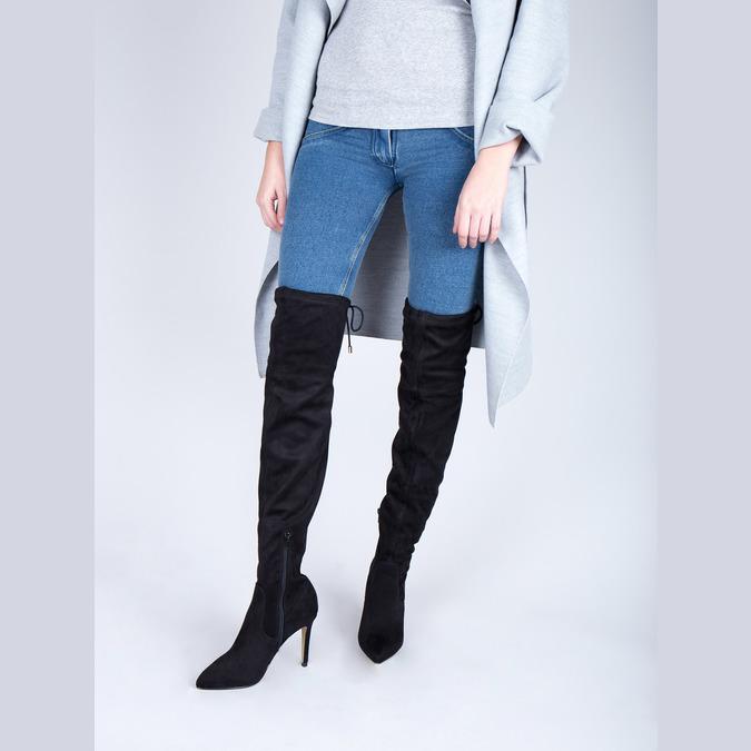 Dámské kozačky nad kolena bata, černá, 799-6600 - 18