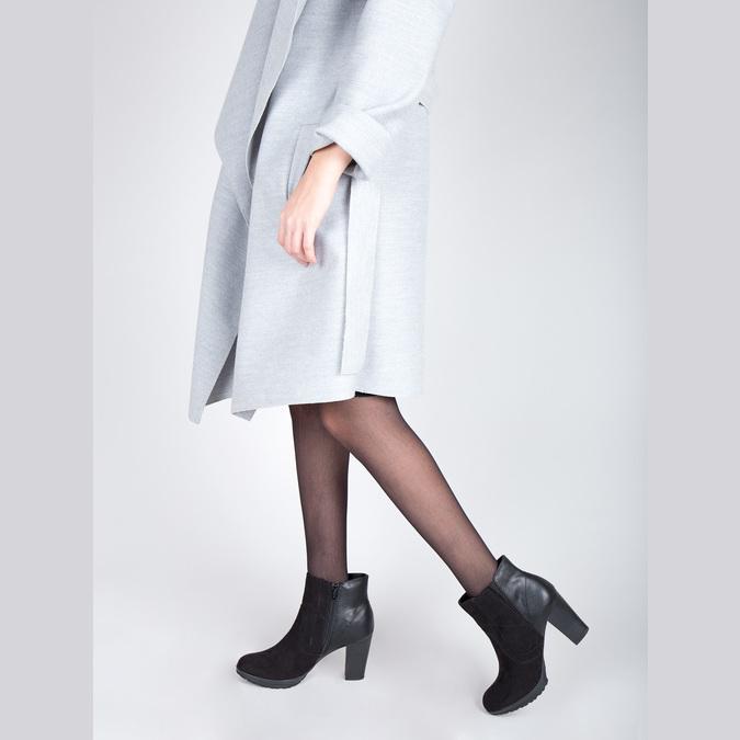 Kotníčková obuv na podpatku bata, černá, 791-6602 - 18
