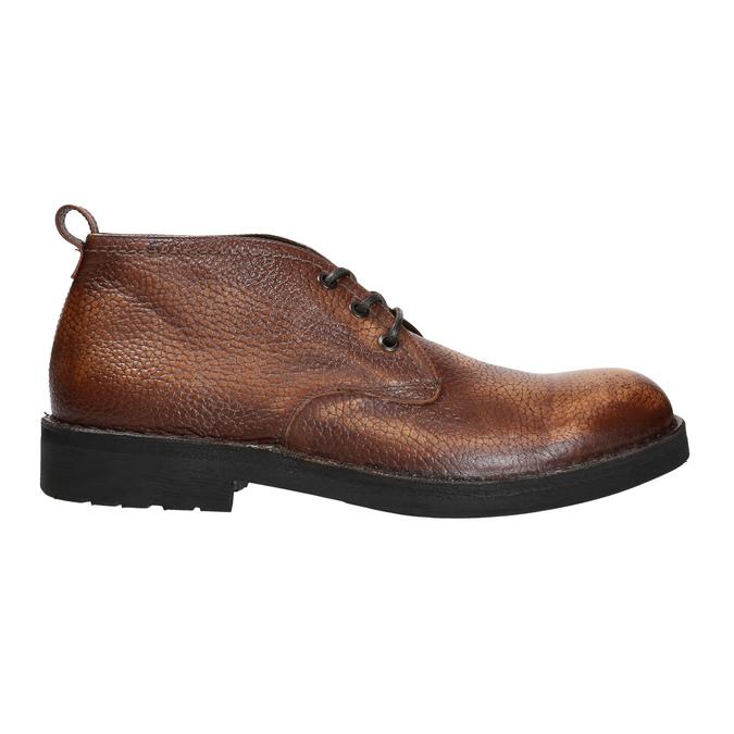 Kožená pánská kotníčková obuv bata, hnědá, 846-4607 - 15