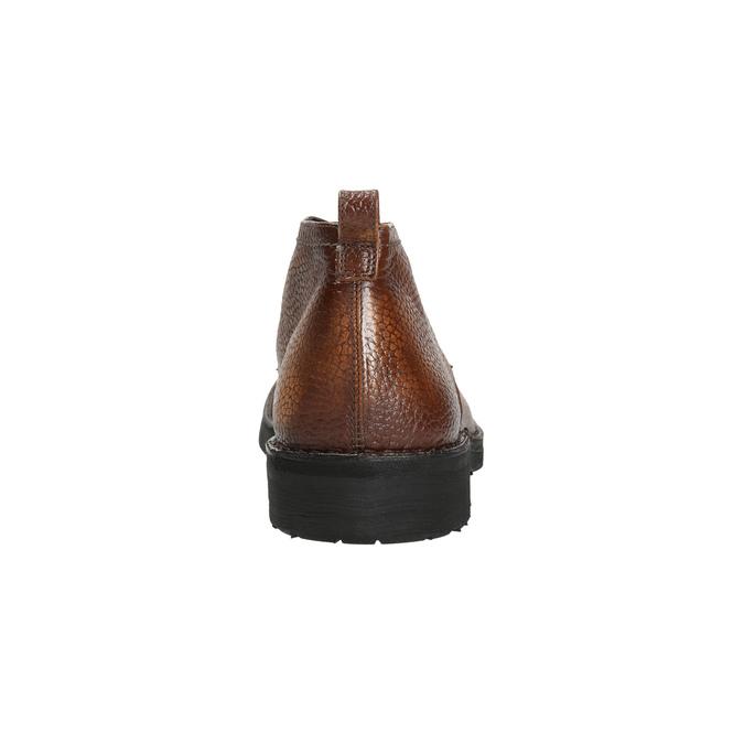 Kožená pánská kotníčková obuv bata, hnědá, 846-4607 - 17