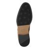Hnědé kožené polobotky bata, hnědá, 826-3735 - 26