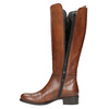 Dámské kožené kozačky bata, hnědá, 594-3586 - 19