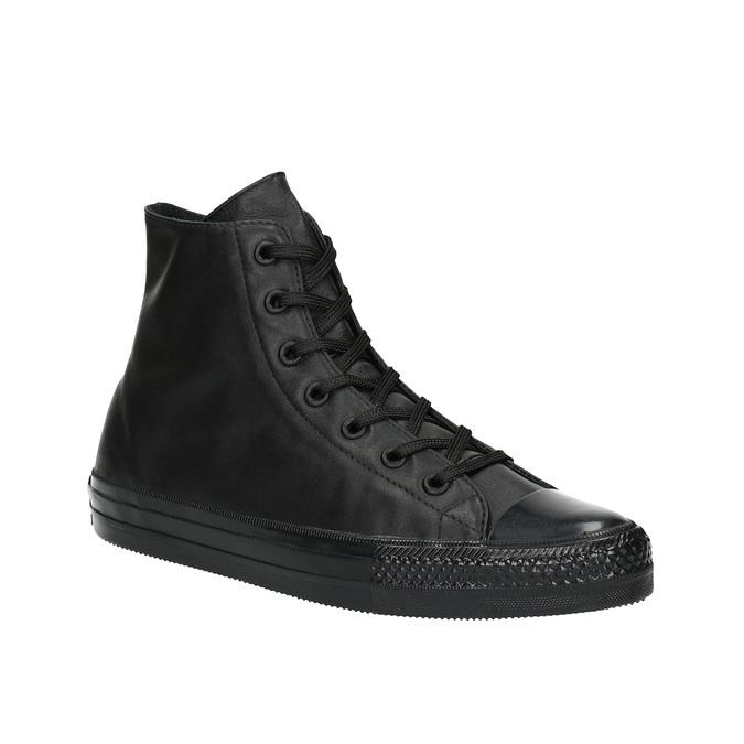 Kožené kotníčkové tenisky černé converse, černá, 546-6082 - 13