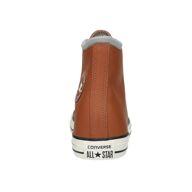 Kožené kotníčkové tenisky converse, hnědá, 846-4081 - 17