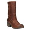 Kožené kozačky ve Western stylu bata, hnědá, 696-3607 - 13