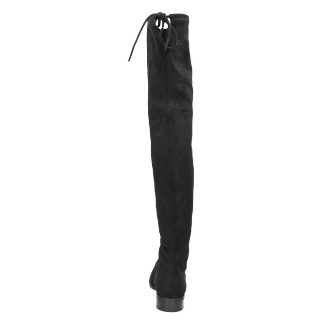 Kožené kozačky nad kolena hogl, černá, 693-6001 - 17
