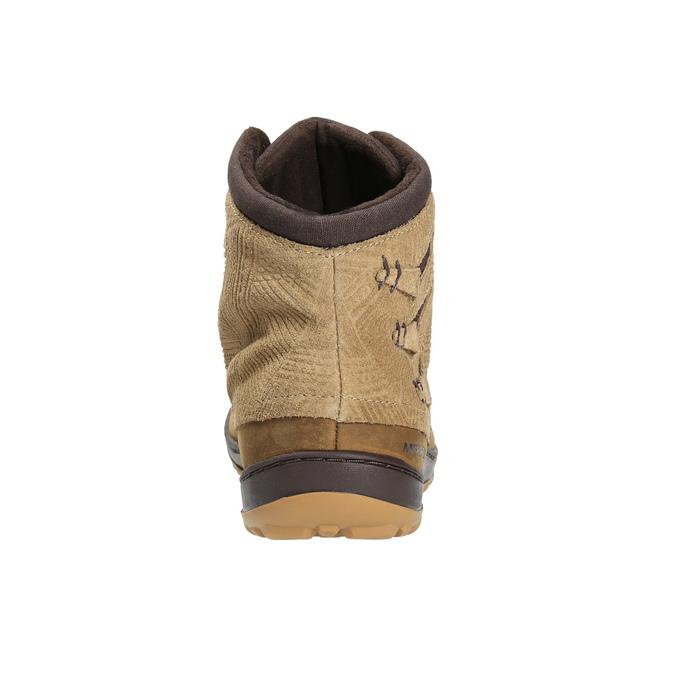 Kožená kotníčková obuv dámská merrell, hnědá, 506-3809 - 17