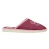 Dámská domácí obuv s kytičkou bata, červená, 579-5605 - 15