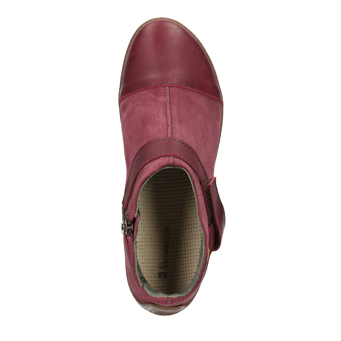 Kožená dámská obuv el-naturalista, červená, 513-5040 - 19