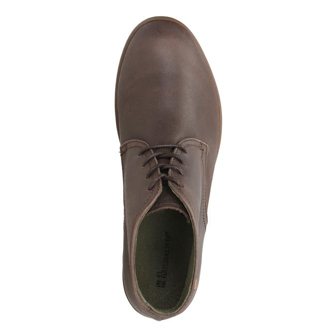 Kožená kotníčková obuv el-naturalista, hnědá, 624-4043 - 19
