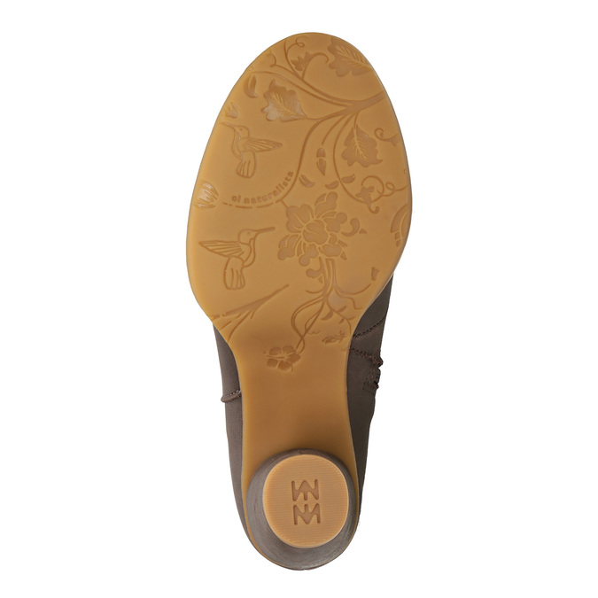 Kotníčková obuv s perforací el-naturalista, hnědá, 714-4041 - 26