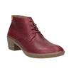 Kožená dámská obuv ke kotníkům el-naturalista, červená, 624-5043 - 13