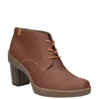 Kožená kotníčková obuv el-naturalista, hnědá, 724-4045 - 13