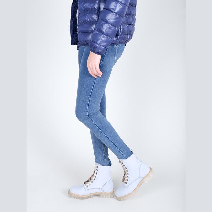 Kožená kotníčková obuv s průhlednou podešví weinbrenner, modrá, 596-9639 - 18