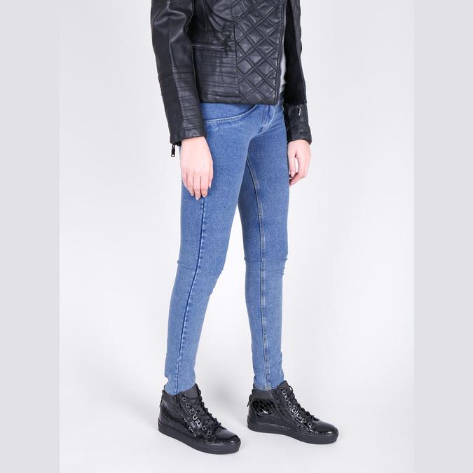 Kožené kotníčkové tenisky se zipy bata, černá, 546-6600 - 18