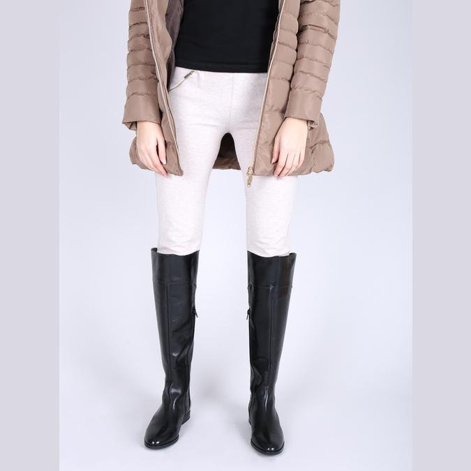 Dámské kožené kozačky ke kolenům bata, černá, 594-6605 - 15