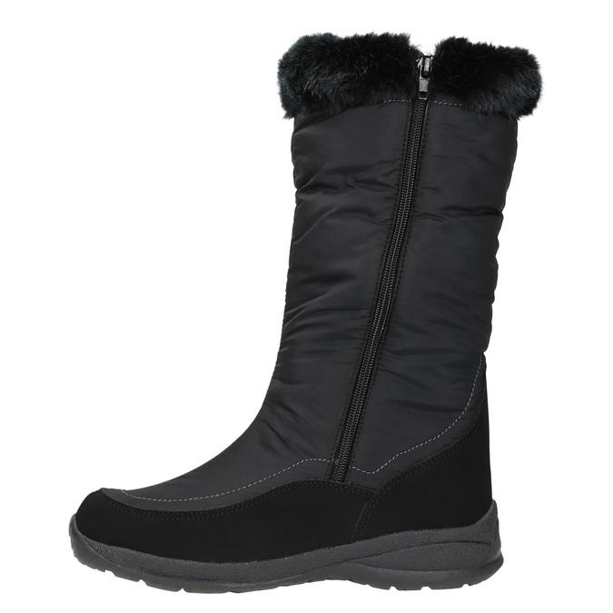 Černé sněhule s kožíškem bata, černá, 599-6613 - 19