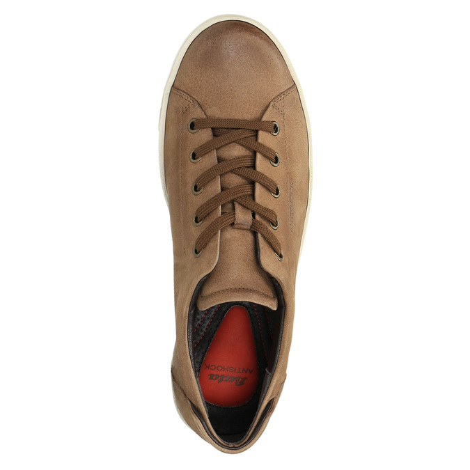Dámské kožené tenisky bata, hnědá, 524-8349 - 19