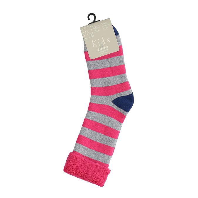 Teplé dětské ponožky bata, růžová, 919-5426 - 13