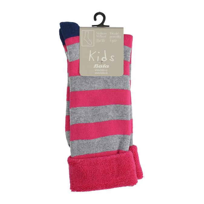 Teplé dětské ponožky bata, růžová, 919-5435 - 13