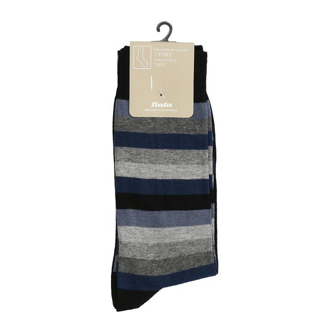 Pánské ponožky 2 páry bata, černá, 919-6411 - 13