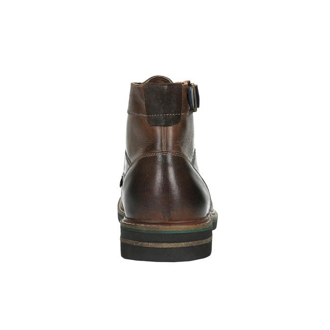 Pánská obuv s výraznou podešví bata, hnědá, 894-4651 - 17