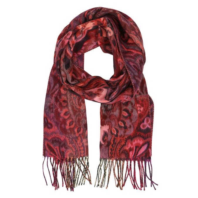 Barevný šál se vzorem bata, červená, 909-2222 - 13