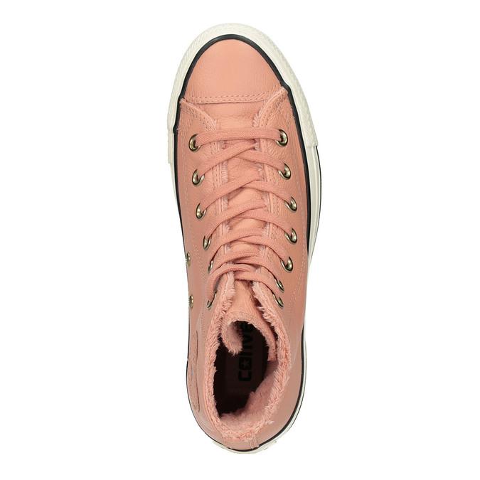 Kožené kotníčkové tenisky se zateplením converse, růžová, 596-5081 - 19