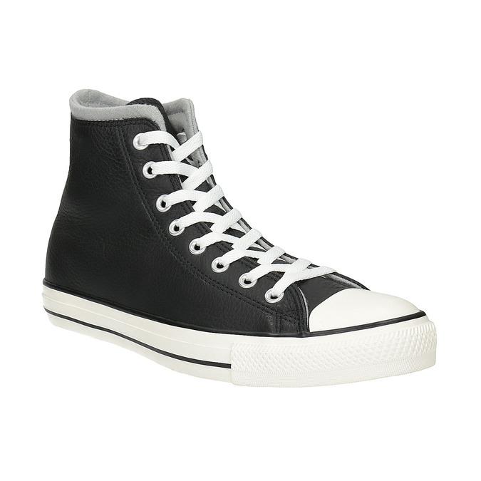 Kožené kotníčkové tenisky converse, černá, 846-6081 - 13