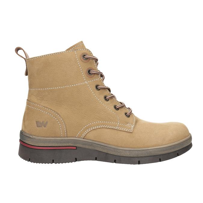 Dámská zimní obuv kožená weinbrenner, hnědá, 596-4636 - 15