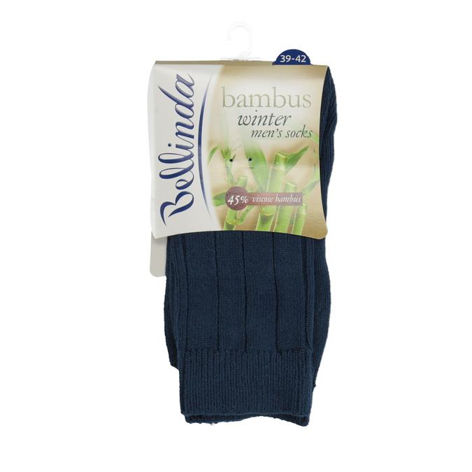 Pánské bambusové ponožky zimní bellinda, modrá, 919-9166 - 13