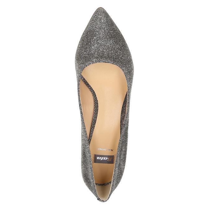 Lodičky na nízkém podpatku bata, šedá, 629-8631 - 19