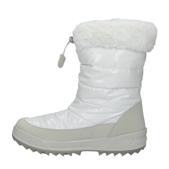 Dámské bílé sněhule s kožíškem weinbrenner, bílá, 591-1617 - 19